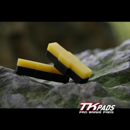 Patins de freins vélo trial - sol sec & humide