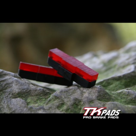 Brake pads for trial bike - developed for wet conditions